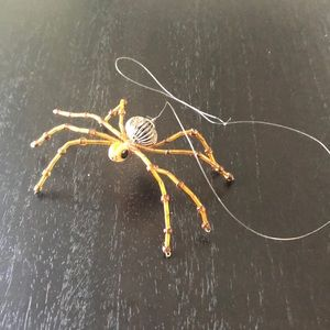 Hand beaded hanging spider